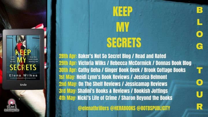 #BLOGTOUR | Keep My Secrets – Elena Wilkes @Elenathrillers @HeraBooks @BOTBSPublicity #amreading #bookblogger#bookreview