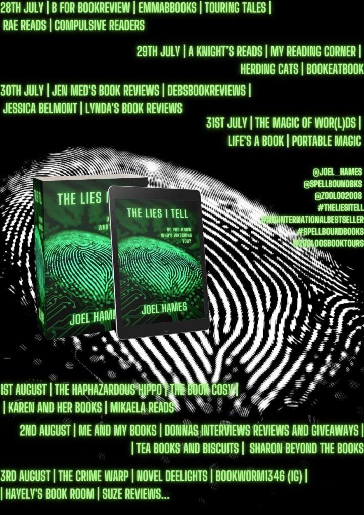 #BLOGTOUR | The Lies I Tell – Joel Hames @joel_hames @SpellBoundBks @zooloo2008 #TheLiesITell#no1internationalbestseller #SpellBoundBooks #ZooloosBookTours #amreading