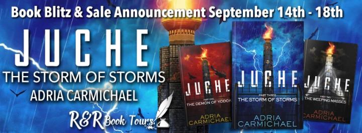 #BOOKBLITZ   The Storm of Storms- Adria Carmichael @AdriaCarmichael @RRBookTours1 #RRBookTours #FreeBooks#bookblogger