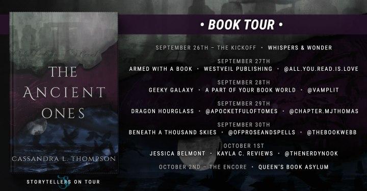 #BOOKTOUR | The Ancient Ones – Cassandra L. Thompson @CassThomps13 @QuillandCrow @sot_tours #theancientones #storytellersontour#bookreview