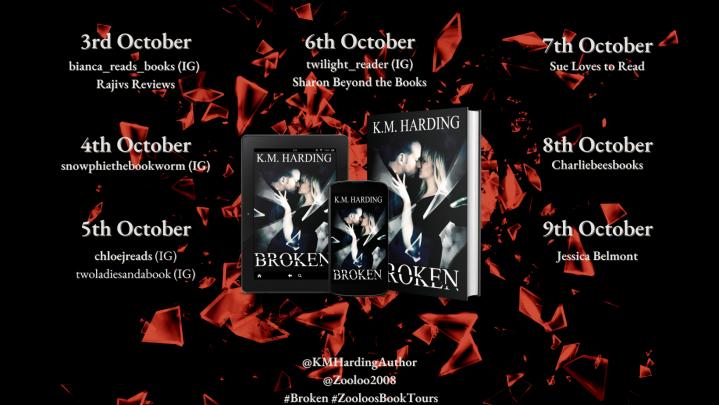 #BOOKTOUR | Broken– K.M. Harding @KMHardingAuthor @ZooloosBT #Broken #ZooloosBookTours #amreading #bookreview #romanticsuspense
